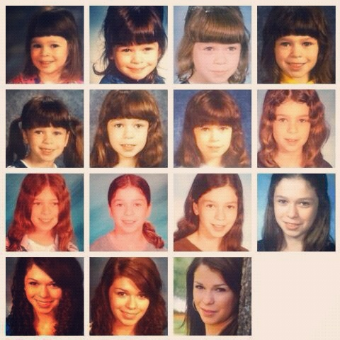 Growing up (my school pictures over the years)