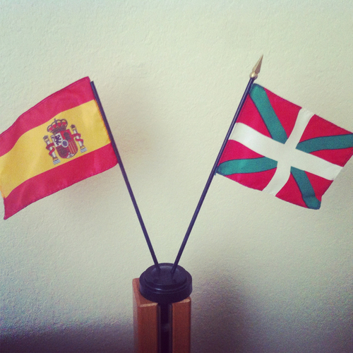 Spain + Basque Country flags in my room