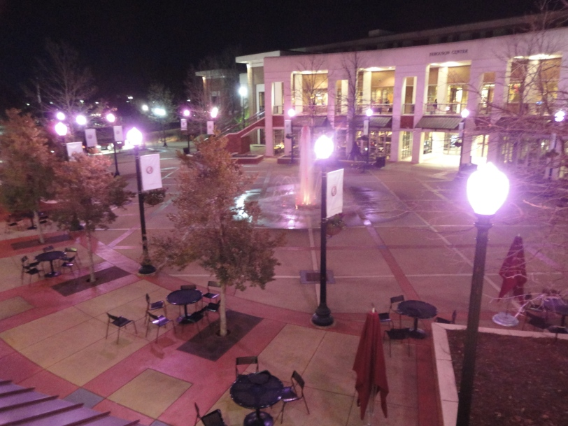 ferg plaza is pink