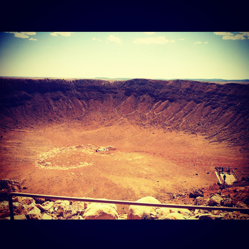 Just look at the size of this meteor crater we found...