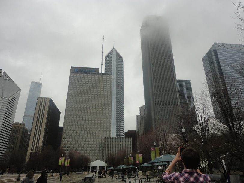 cloudy skies in the windy city