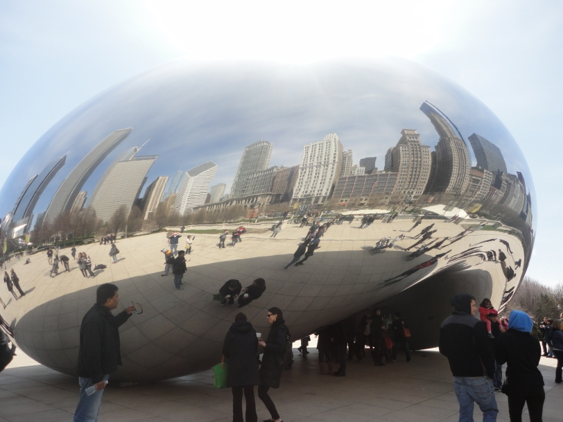 Chicago reflection in bean