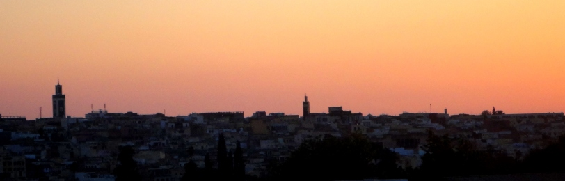 Sunset over Meknes