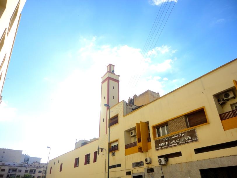 A minaret in Meknes