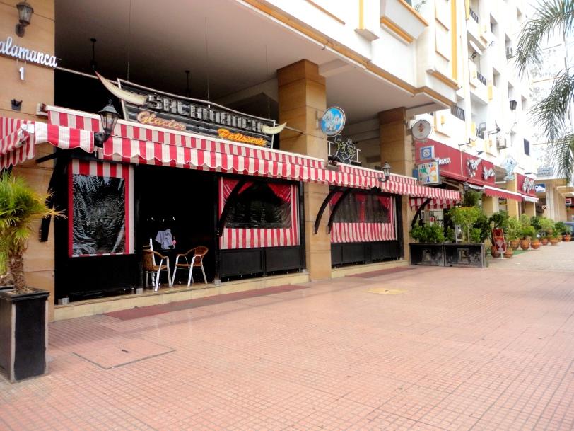Empty cafes in Ramadan