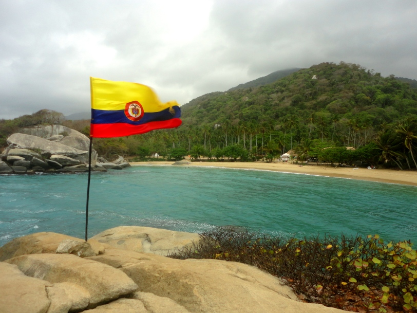 Flag in Tayrona