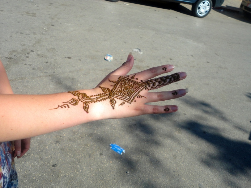 My 10 dirham henna in Meknes