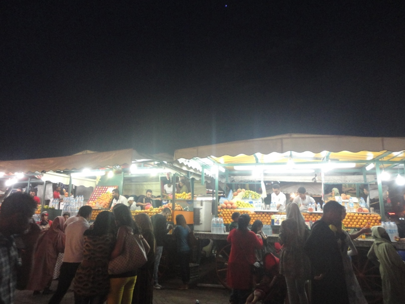 Orange juice stalls