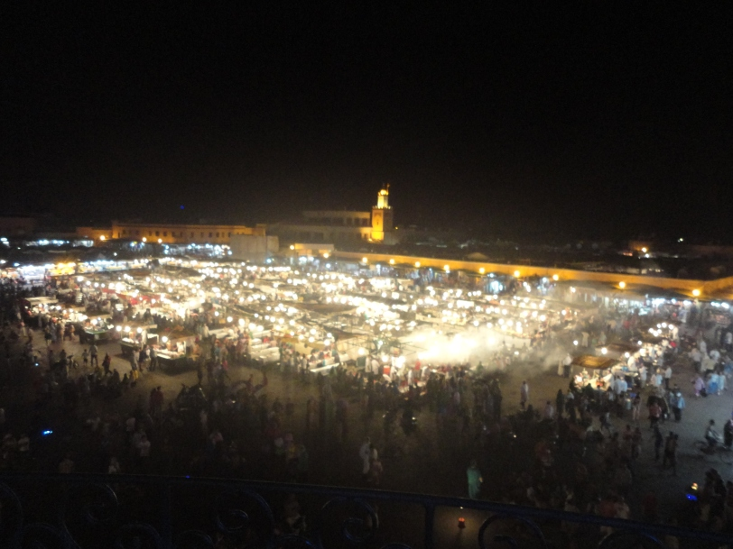 Jemaa el fna from above